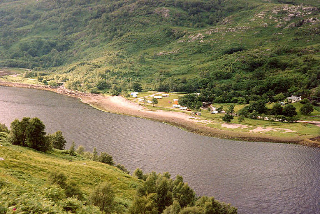 Caravan site, north side of Loch Leven