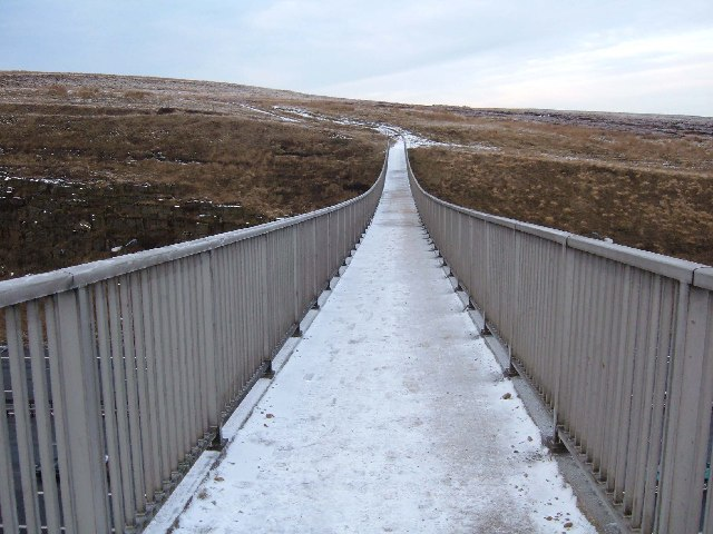 Footbridge over the M62