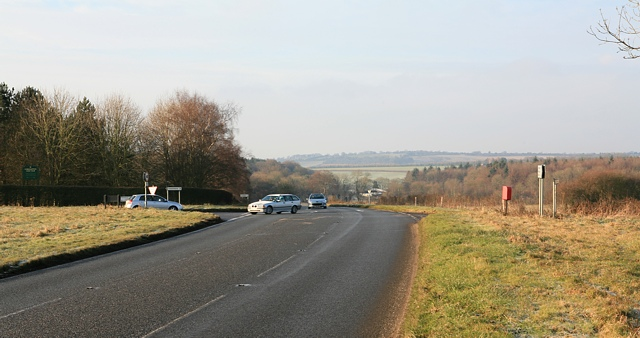 Road junction on B3035, Droxford Down