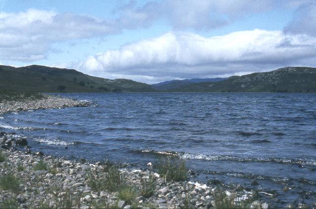 Loch Bruicheach on a breezy day