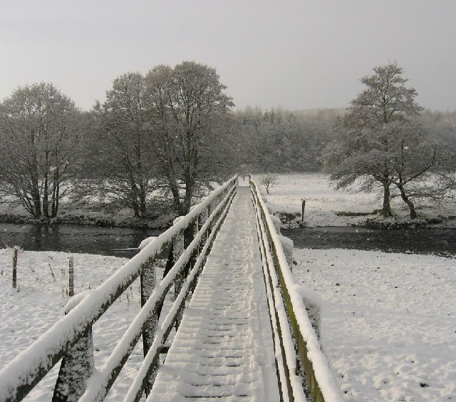 Footbridge over the Coquet between Holystone and Sharperton
