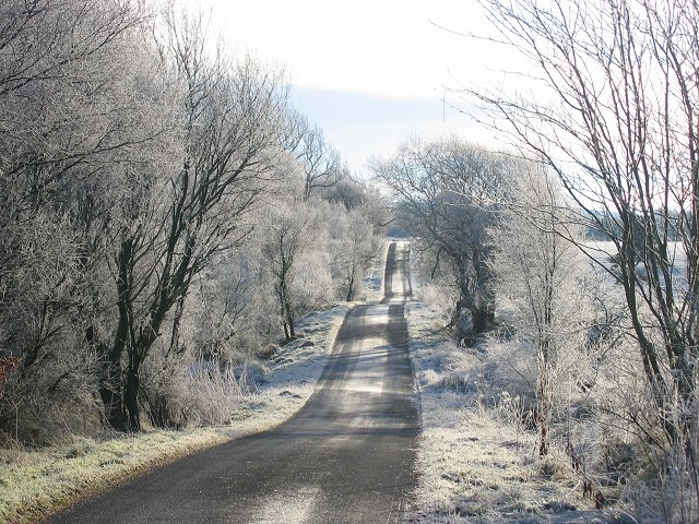 Icy road, West Harwood.