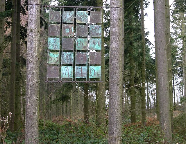 Artwork in Bourne Wood