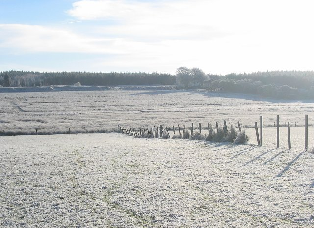 Frosty fields, Torphin.