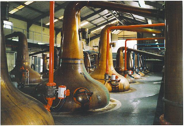 Glenfiddich Distillery stills