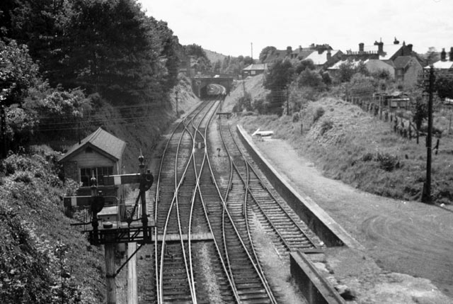 Railway by Winchester Chesil Station