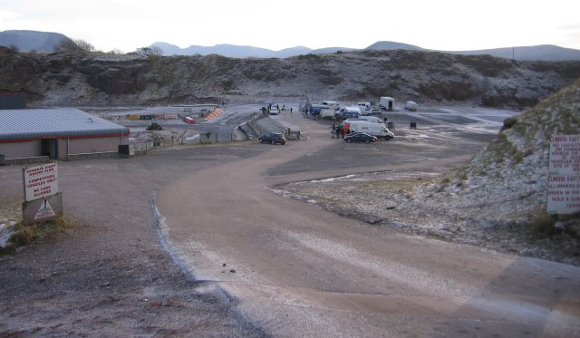 The Karting pits area Rowrah.