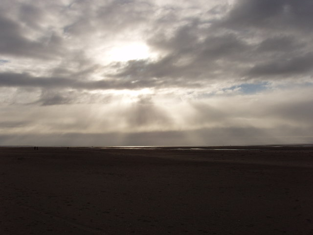Sand and clouds, Formby Point