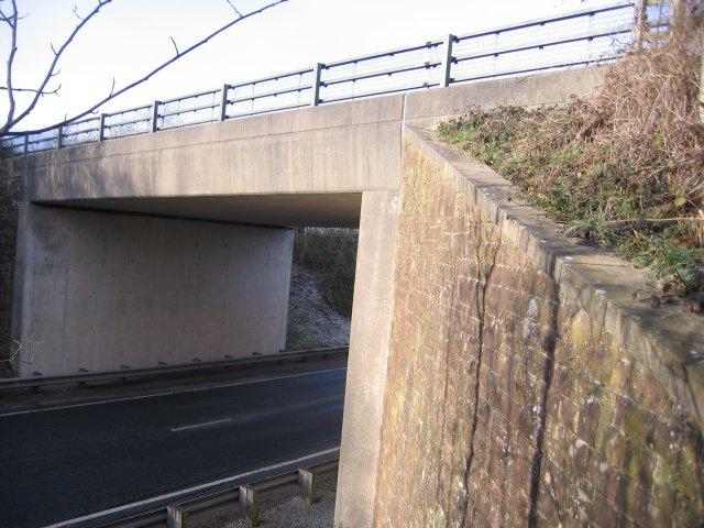 Bridge over clearway.