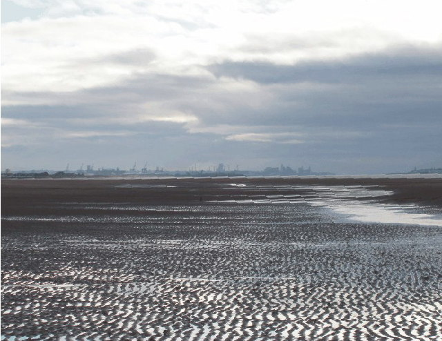 Formby Bank with Liverpool Docks