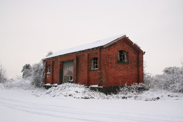 Disused railway goods shed