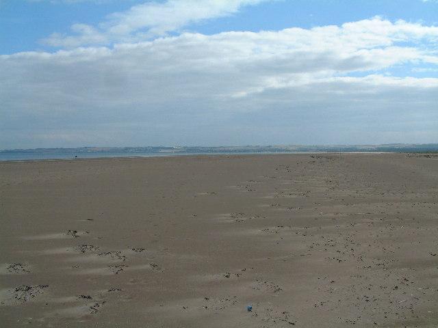 Nudist beach at Tentsmuir