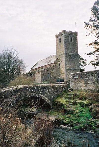 Bridge over Cald Beck and St Kentigern's, Caldbeck