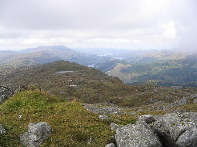 Minor top or false summit on the Druim Garbh ridge