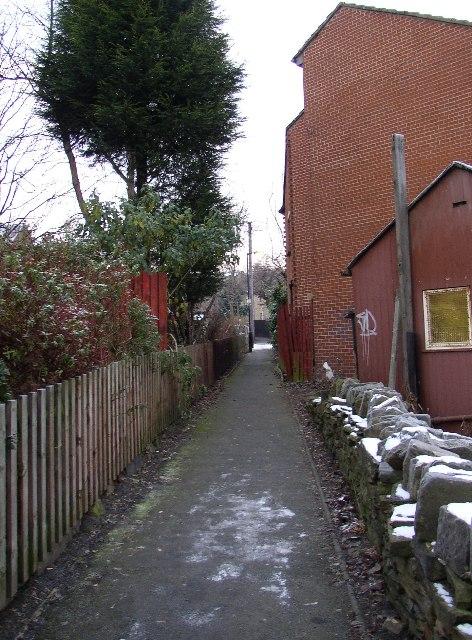 Footpath at Waterloo, Dalton