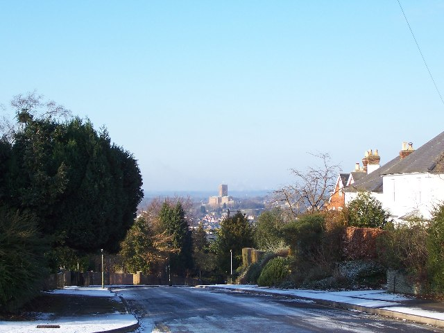 Pewley Point, Guildford, with view of Cathedral