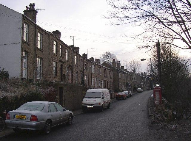Houses along Dalton Bank Road, Colne Bridge, Kirkheaton