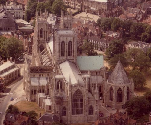 York Minster after the fire
