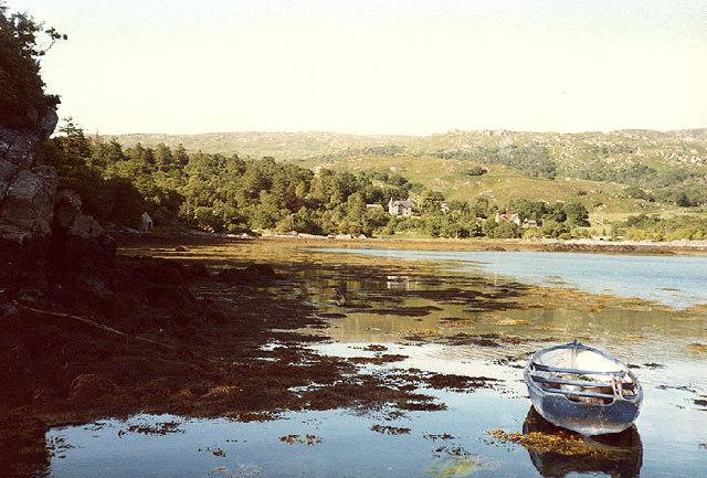 Glenborrodale Bay from the landing