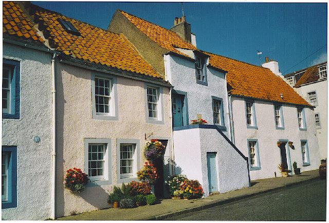 St Monans, old cottages on harbourside.