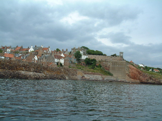 Crail Castle and village