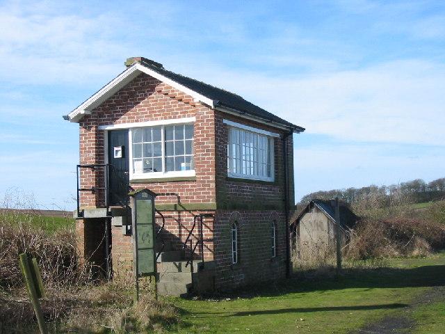 The old Signal Box, Kiplingcotes Railway Station