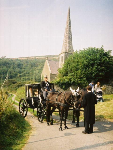Wedding at St. Rhuddlad's Church.