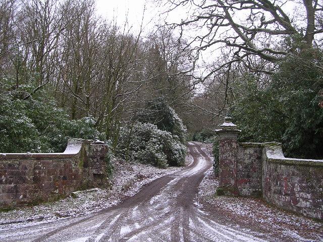 Driveway to Ballikinrain Castle