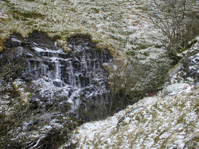 Crag Near Waterfall, River Glenderamackin