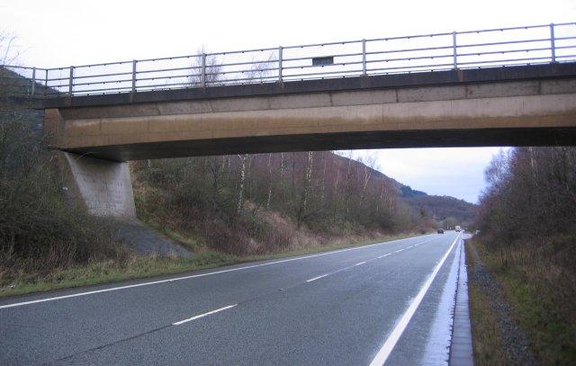 Road, road and river bridge