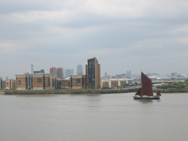 River view from Thamesmead