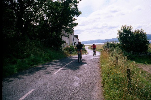 Cycling round Arran at Imachar