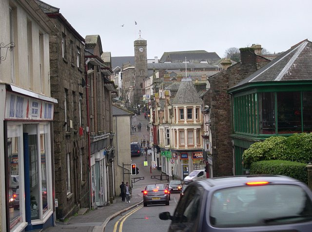 Redruth Town Centre from the West