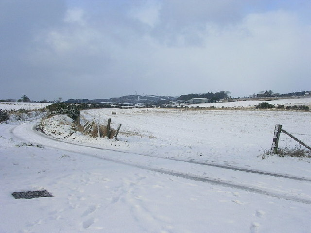 Snow covered fields by Bucksburn