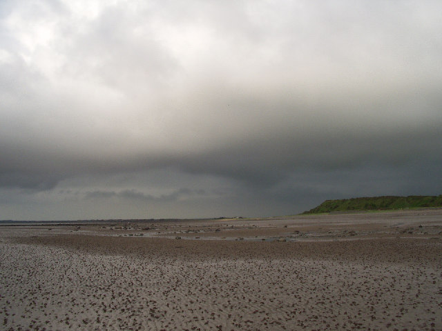 Solway sands with the tide out