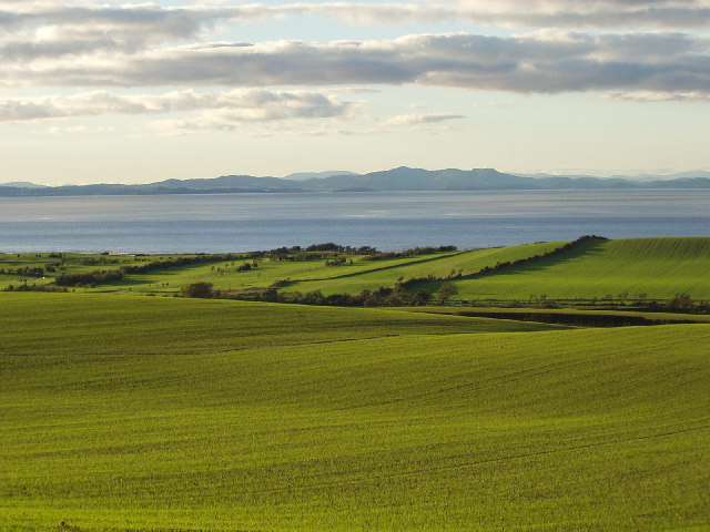 Solway Firth and Galloway Hills viewed from near Crosscanonby