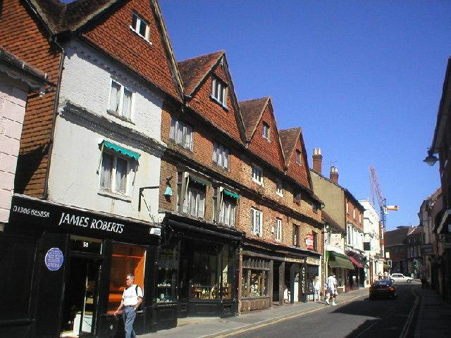 Antique shops in West Street, Dorking