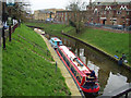 TL4196 : River Nene at March showing narrow boats by ally McGurk