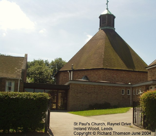 St Paul's Church, Raynel Drive, Ireland Wood, Leeds