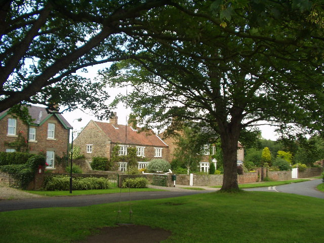 Village Green and Houses in Sutton Howgrave