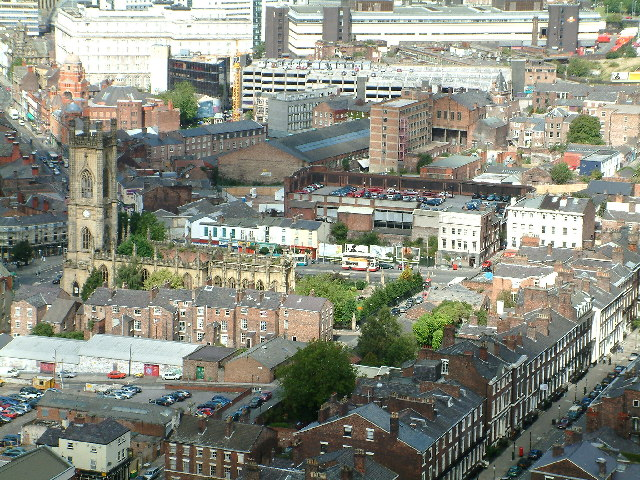 View from the  top of the Anglican Cathedral Tower, Liverpool