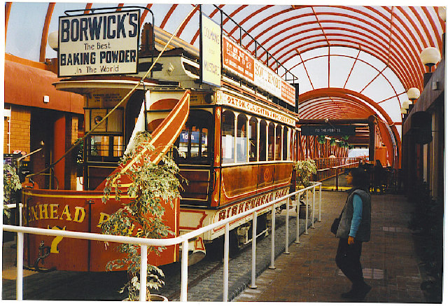 Birkenhead - old tram at Mersey Ferry Terminal