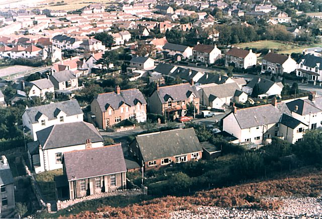 Dwygyfylchi from above Capel Horeb
