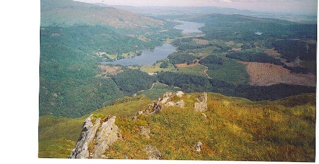Loch Achray & Loch Venachar from Ben Venue