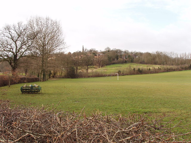 Harrow School playing fields with view to Harrow on the Hill