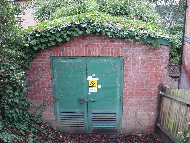 Electricity sub-station at Harrow School