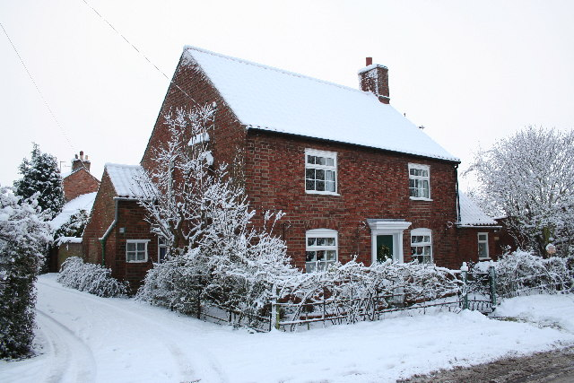 Blacksmiths Cottage in the snow