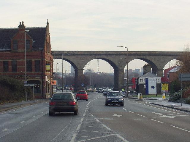 Railway Viaduct over Kirkstall Road, Burley, Leeds