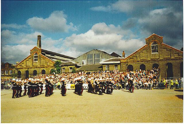 Chatham Dockyard - Royal Marines Band Beating the Retreat