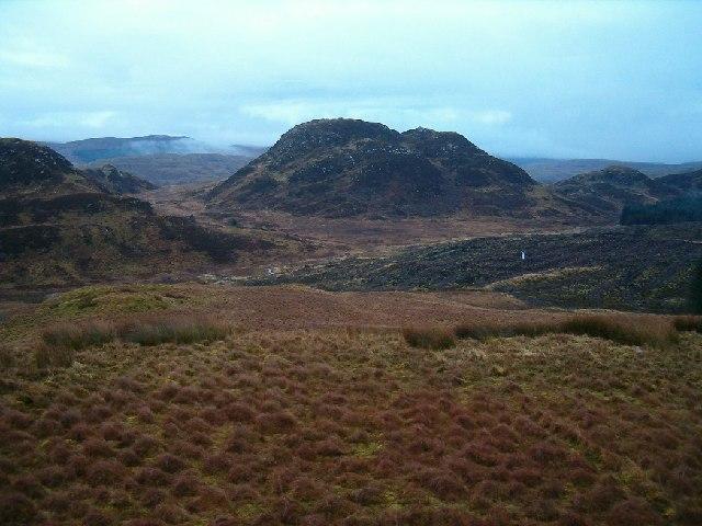 Moorland above Allt Ath Mhic Mhairtein